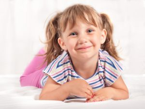Adorable little toddler girl portrait