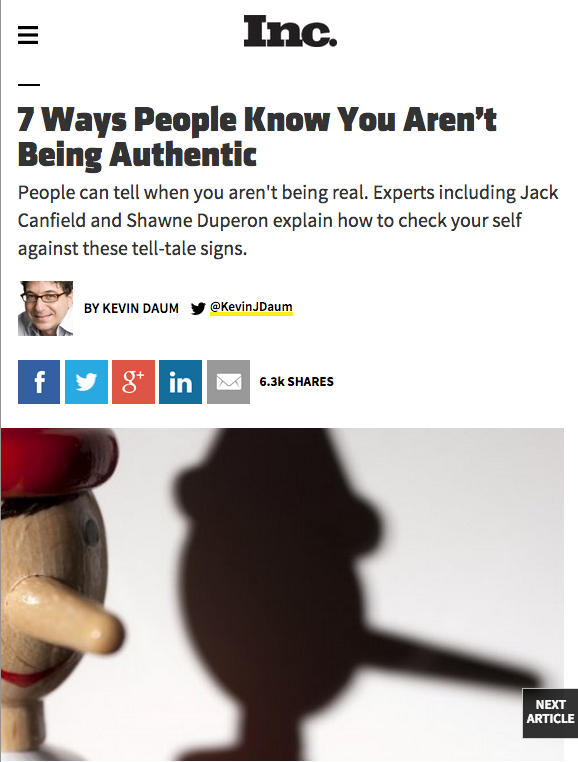 7 Ways People Know You Aren't Being Authentic- Inc Magazine