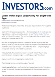 Career Trends Signal Opportunity