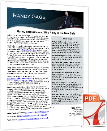 Randy Gage's One Pager
